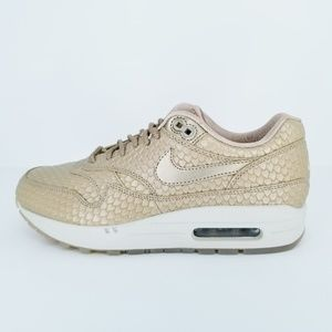 Shoes - Nike Air Max 1 Premium Women's Shoes Gold Fish St